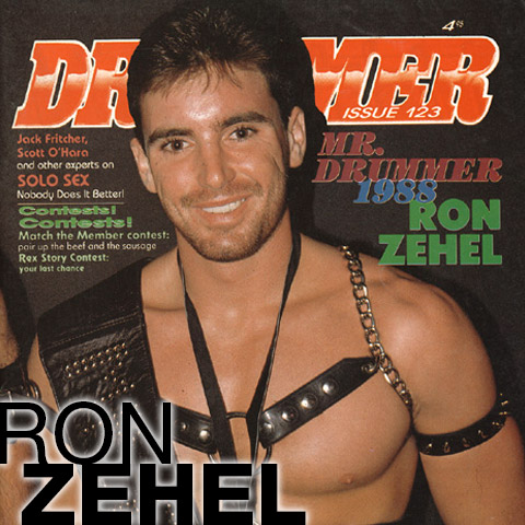 Ron Zehel Handsome American Muscle Mr. Drummer and Gay Porn Star