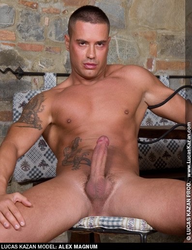 Alex Magnum Tattooed and Handsome Lucas Kazan Italian Gay Porn Star Gay Porn 120225 gayporn star