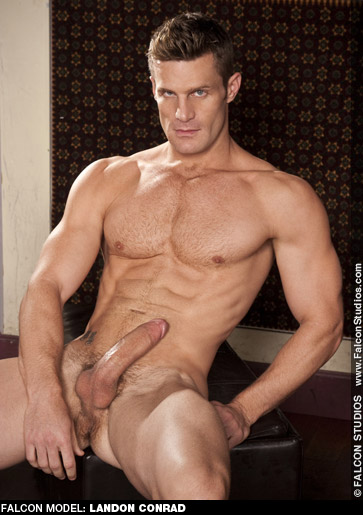 Landon Conrad Hung Blond Hard Handsome Gay Porn Star