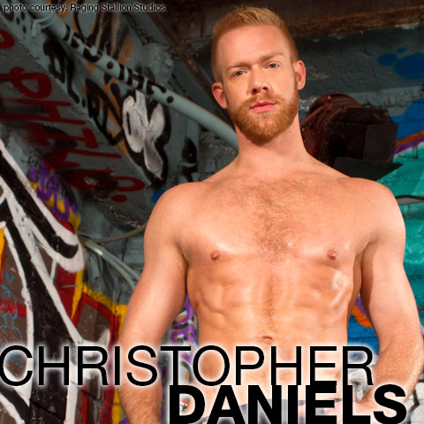 Christopher Daniels Handsome Blond Power Bottom Gay Porn SuperStar