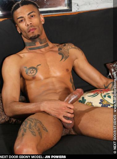 Jin Powers Tattooed Black American Gay Porn Star Gay Porn 130789 gayporn star