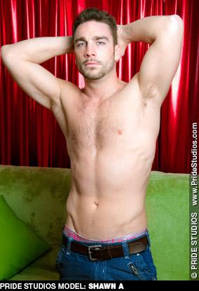 Shawn A American Gay Porn Star 131609 gayporn star Pride Studios uncut solo performer