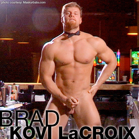Brad Blond Hung Muscle Solo Performer 131794 gayporn star Kovi LaCroix