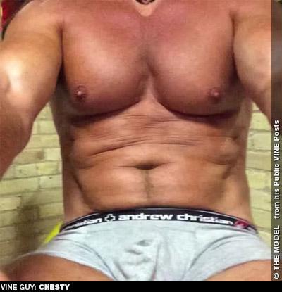 Chesty Exhibitionist Men of Vine 131984 gayporn star