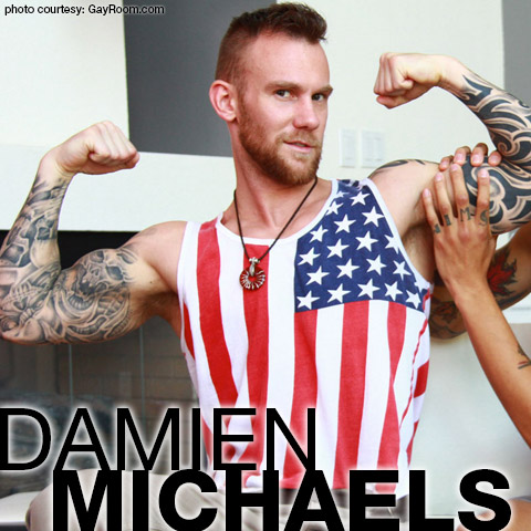 Damien Michaels Sexy Tattooed American Gay Porn Star Hunk Gay Porn 132543 gayporn star
