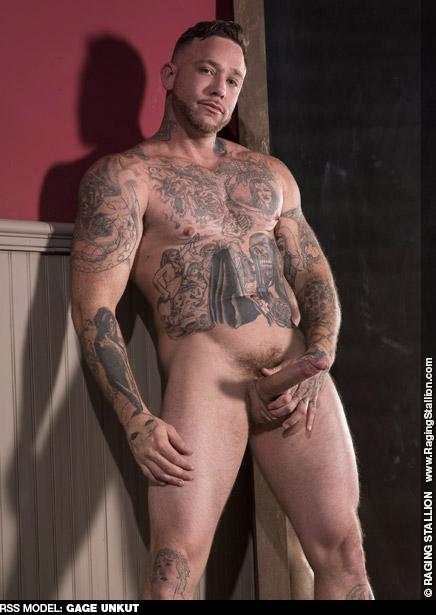 Gage Unkut Tattooed Uncut American Gay Porn Star Gay Porn 133964 gayporn star Bromo bareback