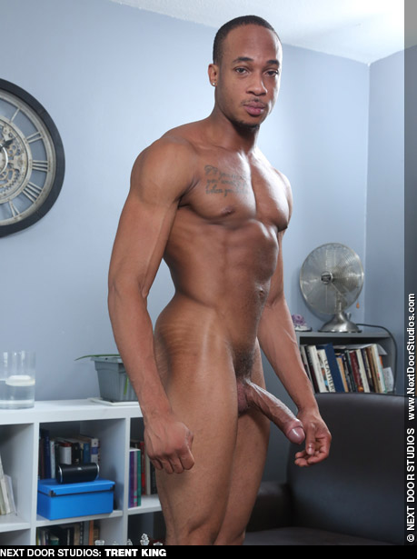 Trent King Hung Handsome Uncut Next Door Ebony American Gay Porn Star Gay Porn 134333 gayporn star