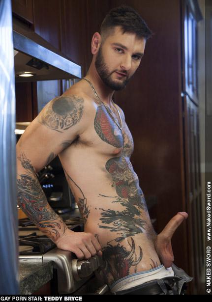 Teddy Bryce Scruffy Tattooed American Gay Porn Star Gay Porn 135222 gayporn star